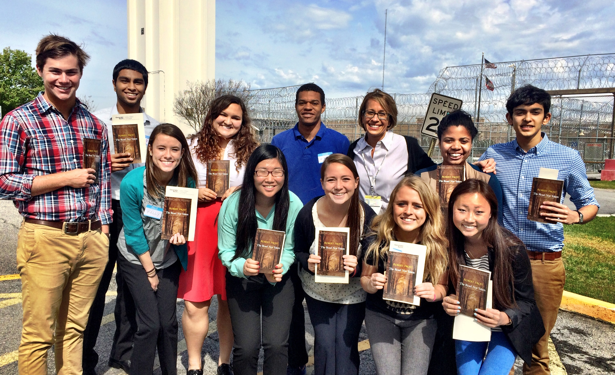 Sarah's students visit the prison