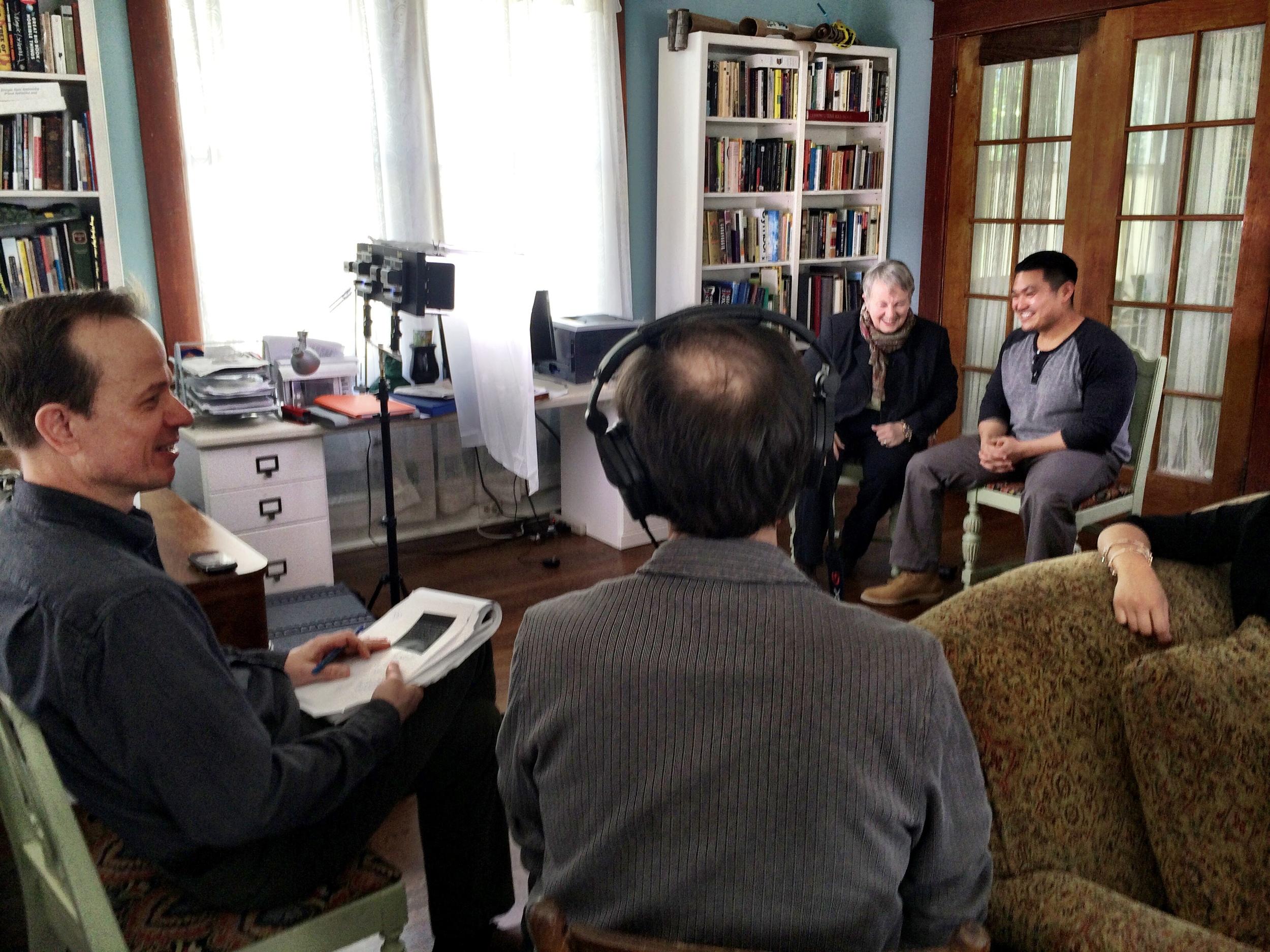 Hal Jacobs films Quang and Senator Orrock