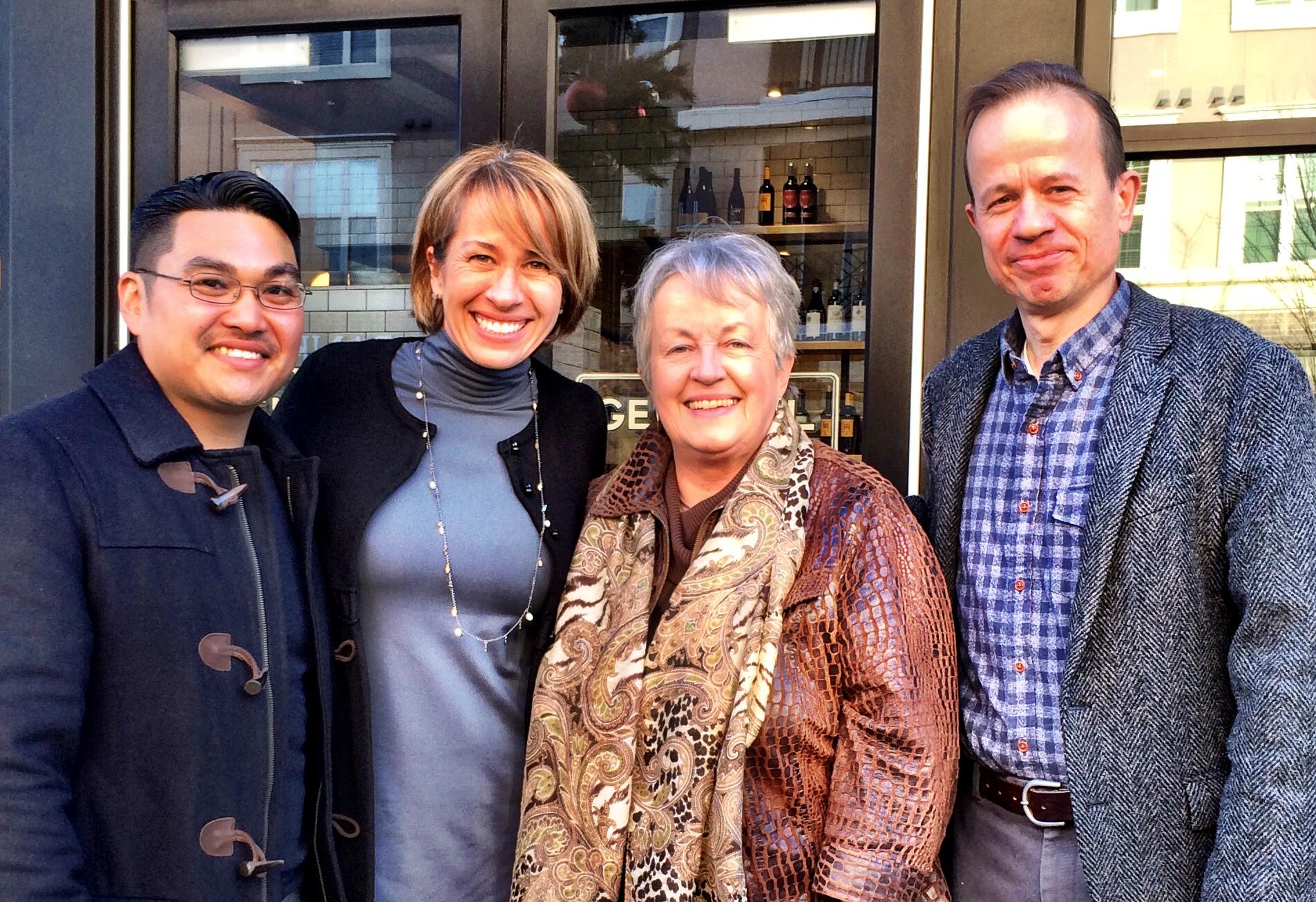 Quang, Nan Orrock, Sarah, and Bill