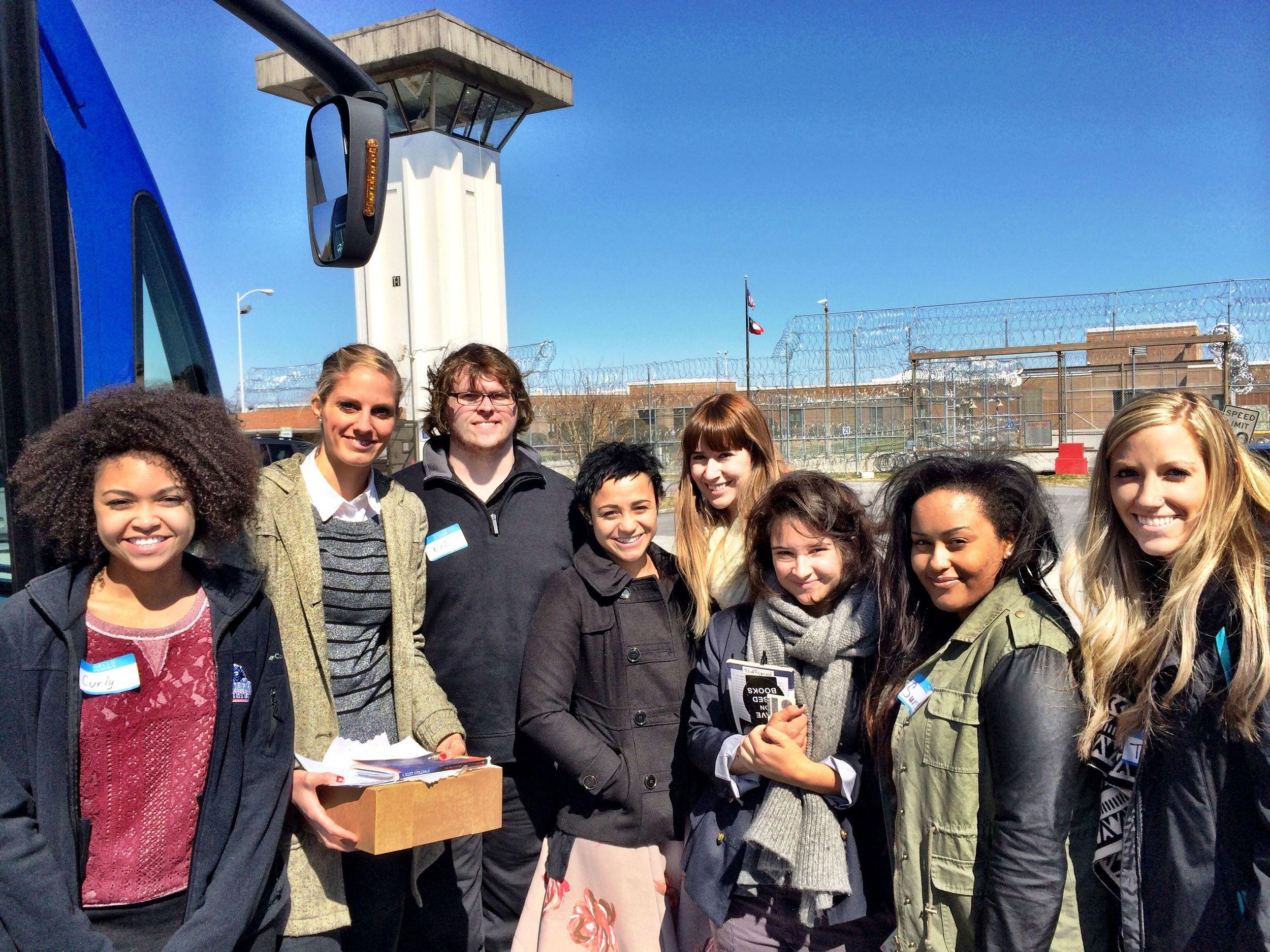 Ellen Stockstill's students visit prison