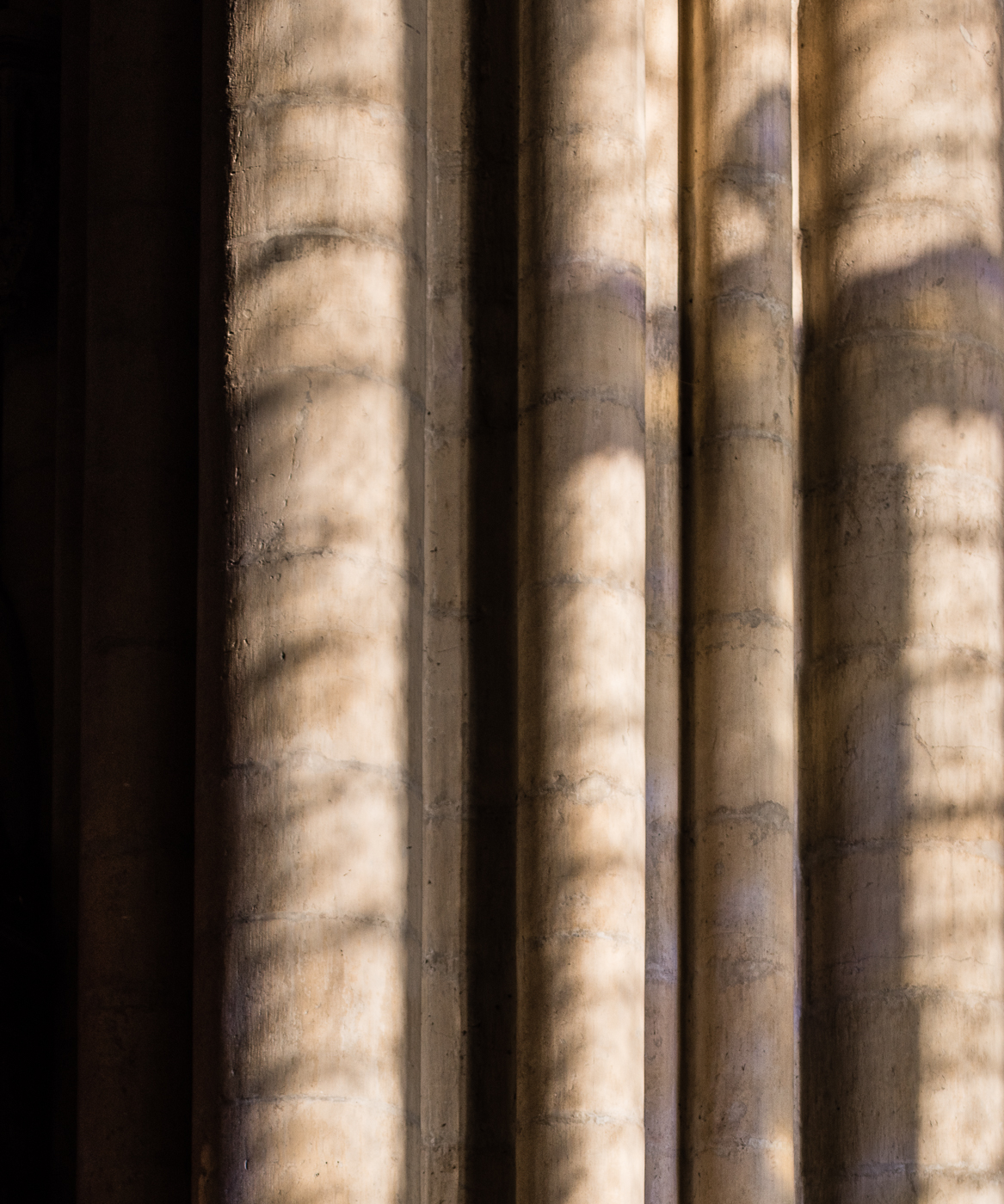 Minster columns with shadows
