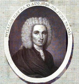 William Hay, from  The Life and Works of William Hay  (London, 1794).