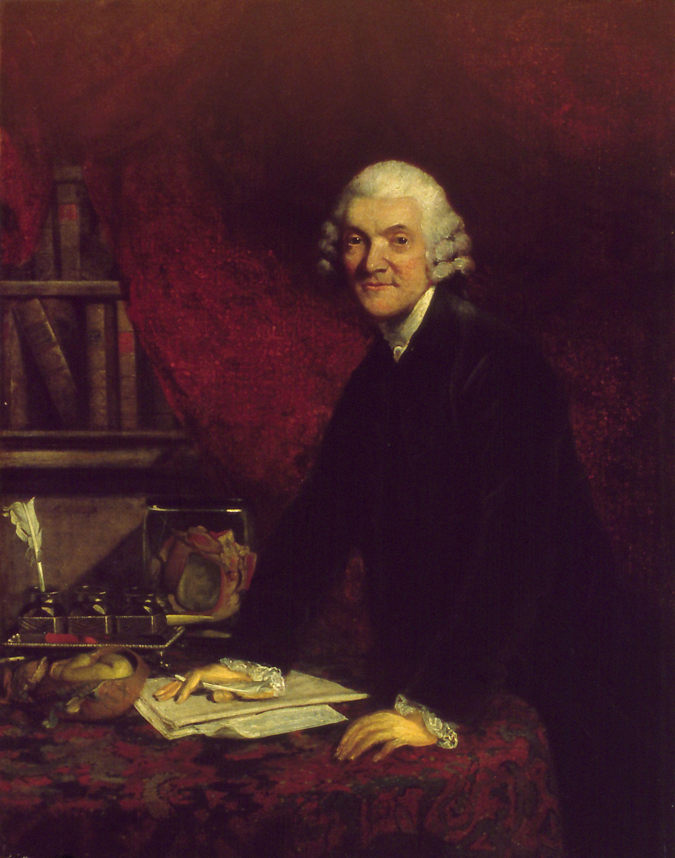 William Hunter, by Joshua Reynolds. Original in the Hunterian Museum, Glasgow.