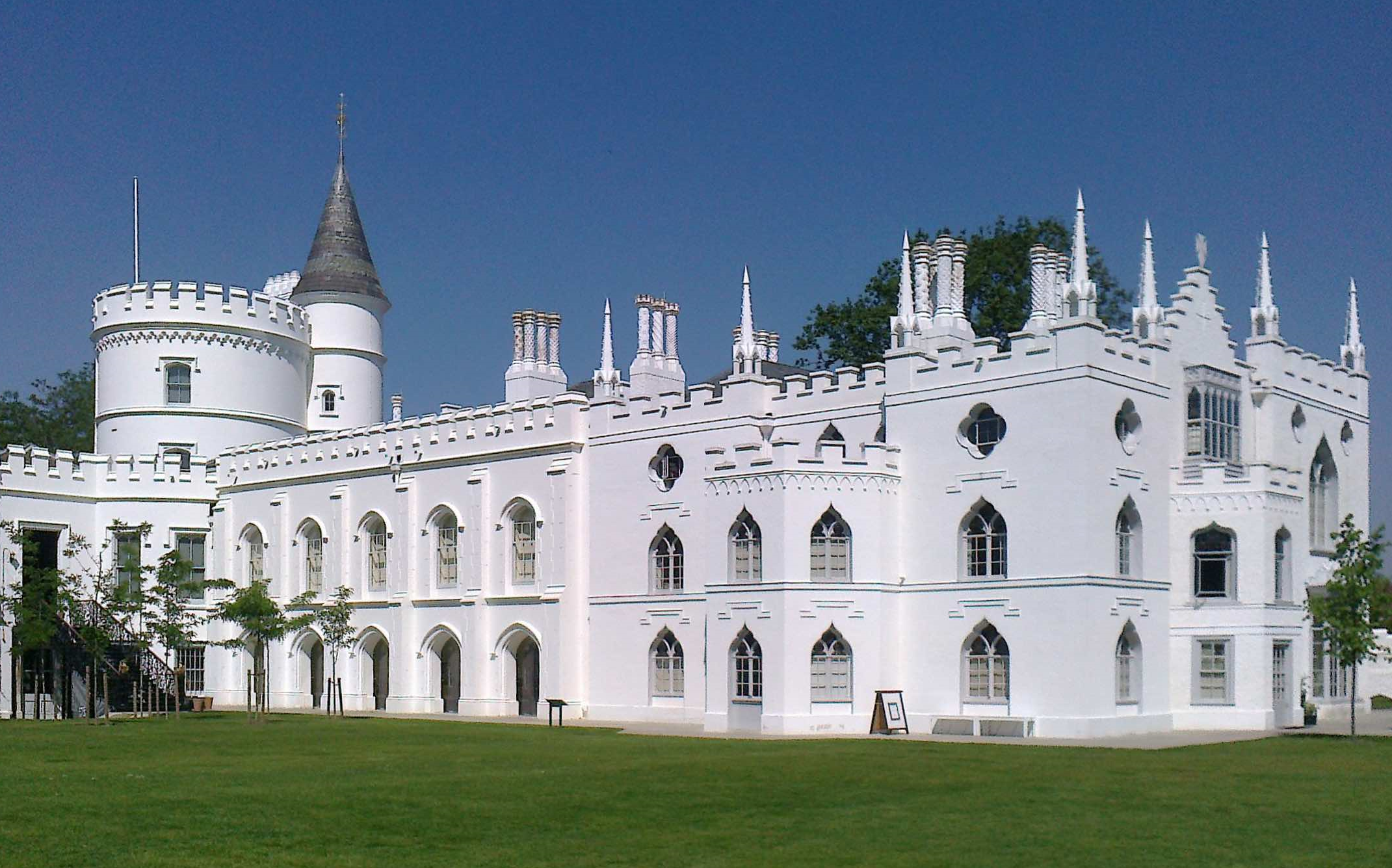 Strawberry Hill (as seen from the lawn) gorgeously restored by the Strawberry Hill Trust.  Photo by curator