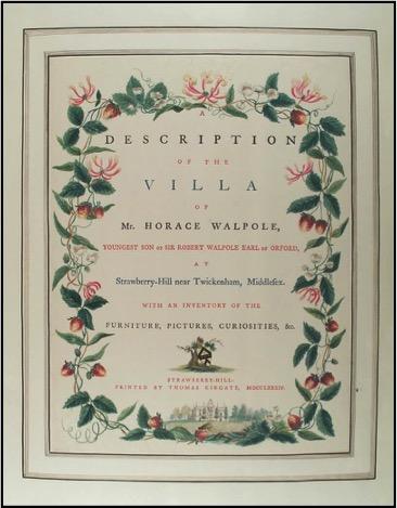 Walpole, Description of the Villa (1784): LWL   Folio 33 30 copy 11. Image courtesy of The Lewis Walpole Library, Yale University.
