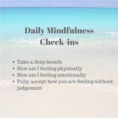 Mindfulness check list, daily to do list