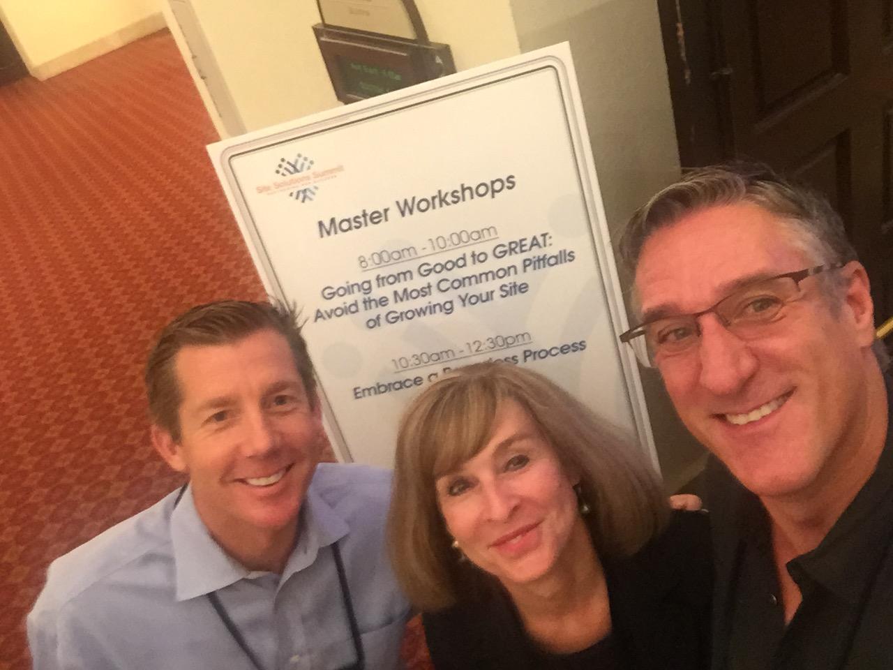Sean Stanton, Cathy Collins and Steve Satek at thier 2016 workshop