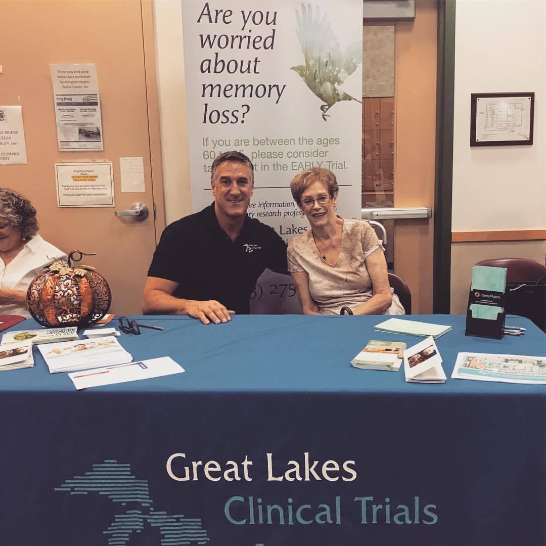 Great Lakes Clinical Trials' President, Steve Satek with his mother, Pat Satek