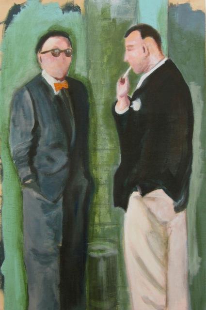 """The Watchmen."" Hayley Gaberlavage. Acrylic on panel. 16""w x 24""h. Value: $850.00."