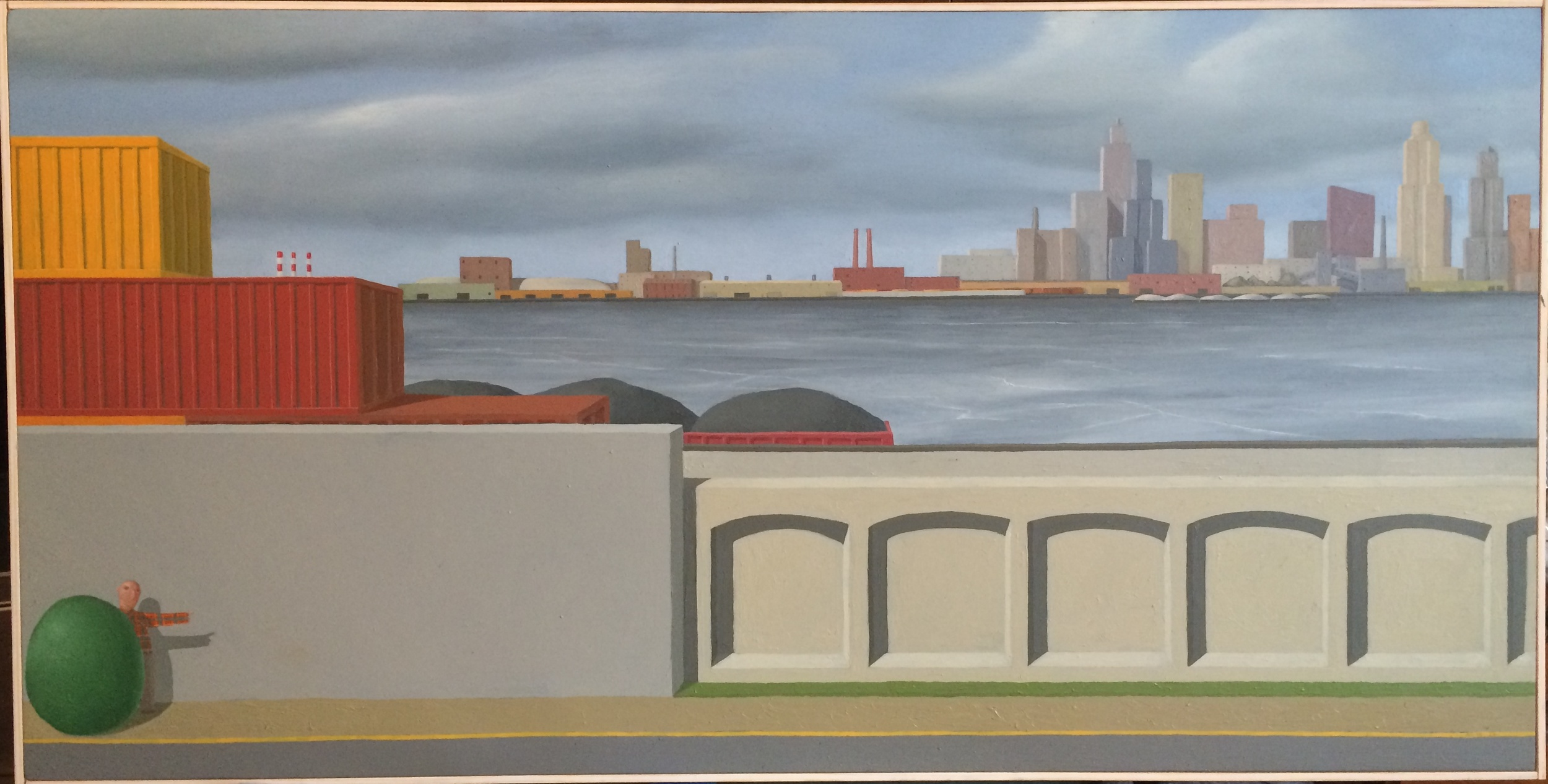 """""""Untitled."""" Alan Gerson. Oil on canvas. 48″ w x 24″ h. Value: $3,000."""