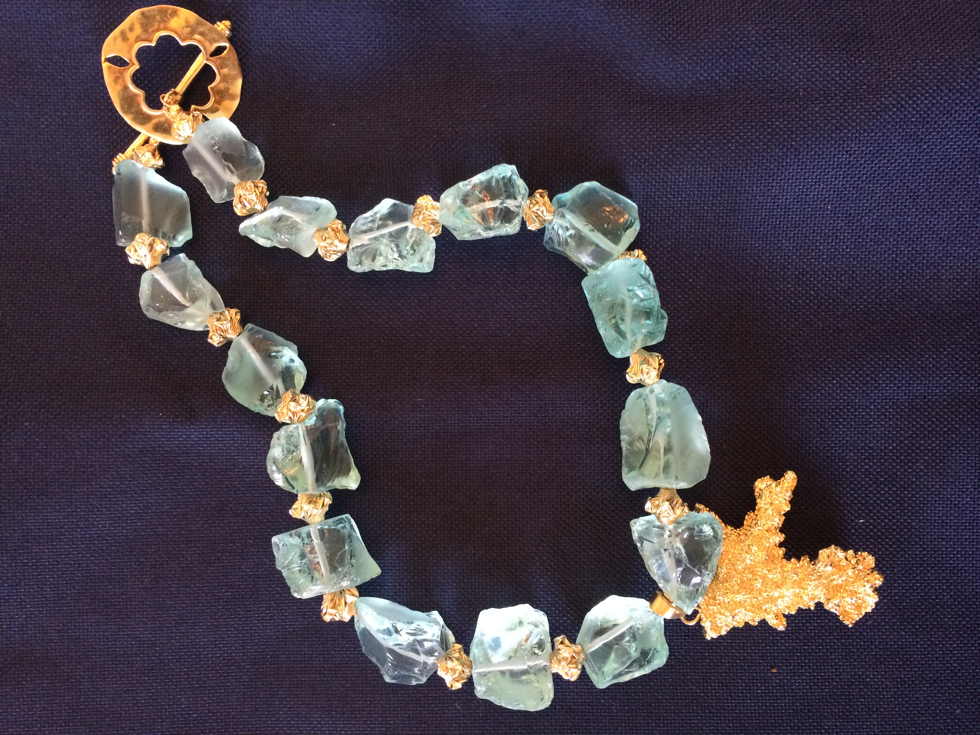 Joaillerie by NED. Ned Marshall. Fluorite and vermeil necklace. Value: $500.00.