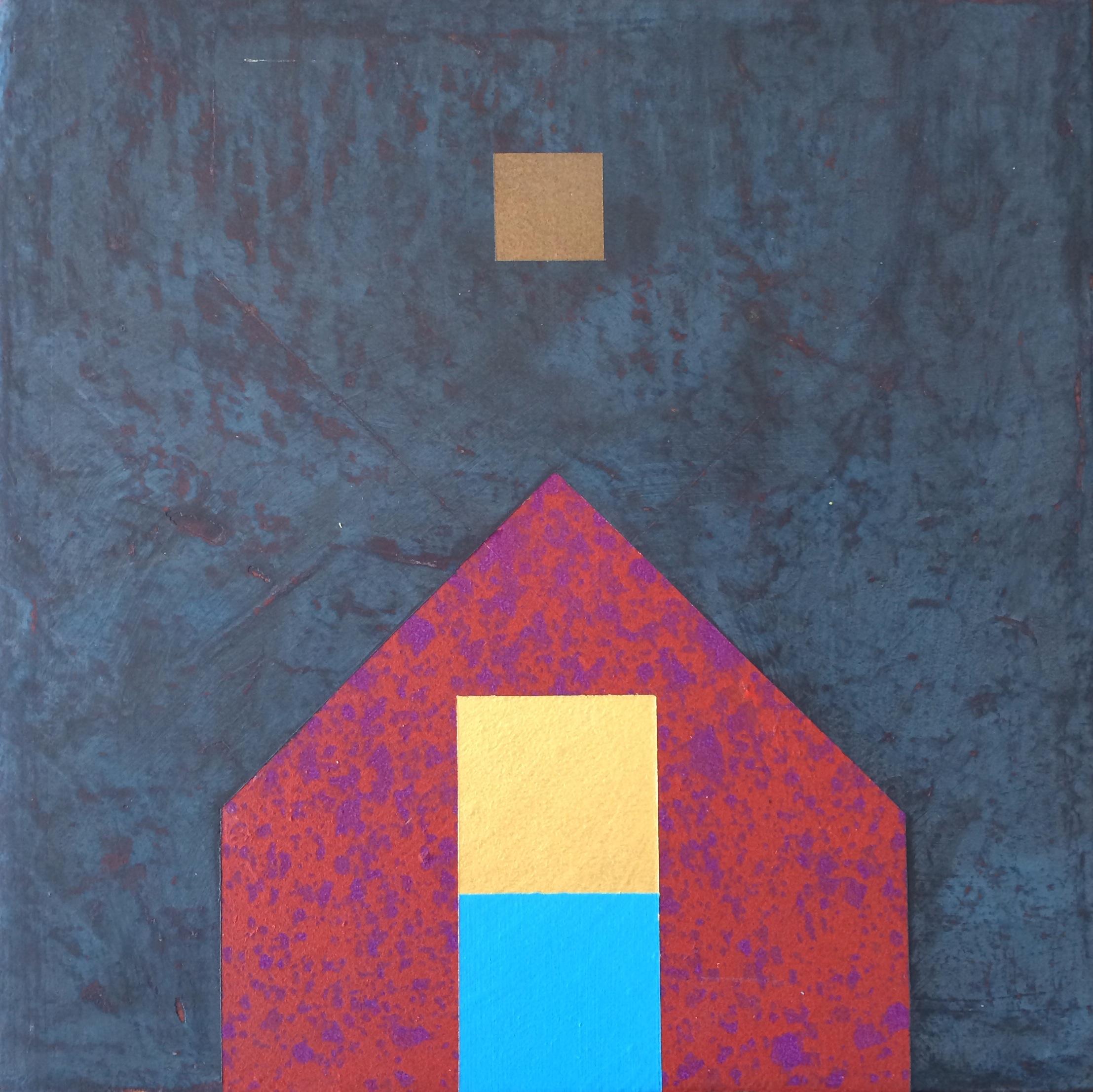 """ Morning Moon."" Brad Wreyford. Acrylic on canvas, 11"" X 11"". Value: $400.00."
