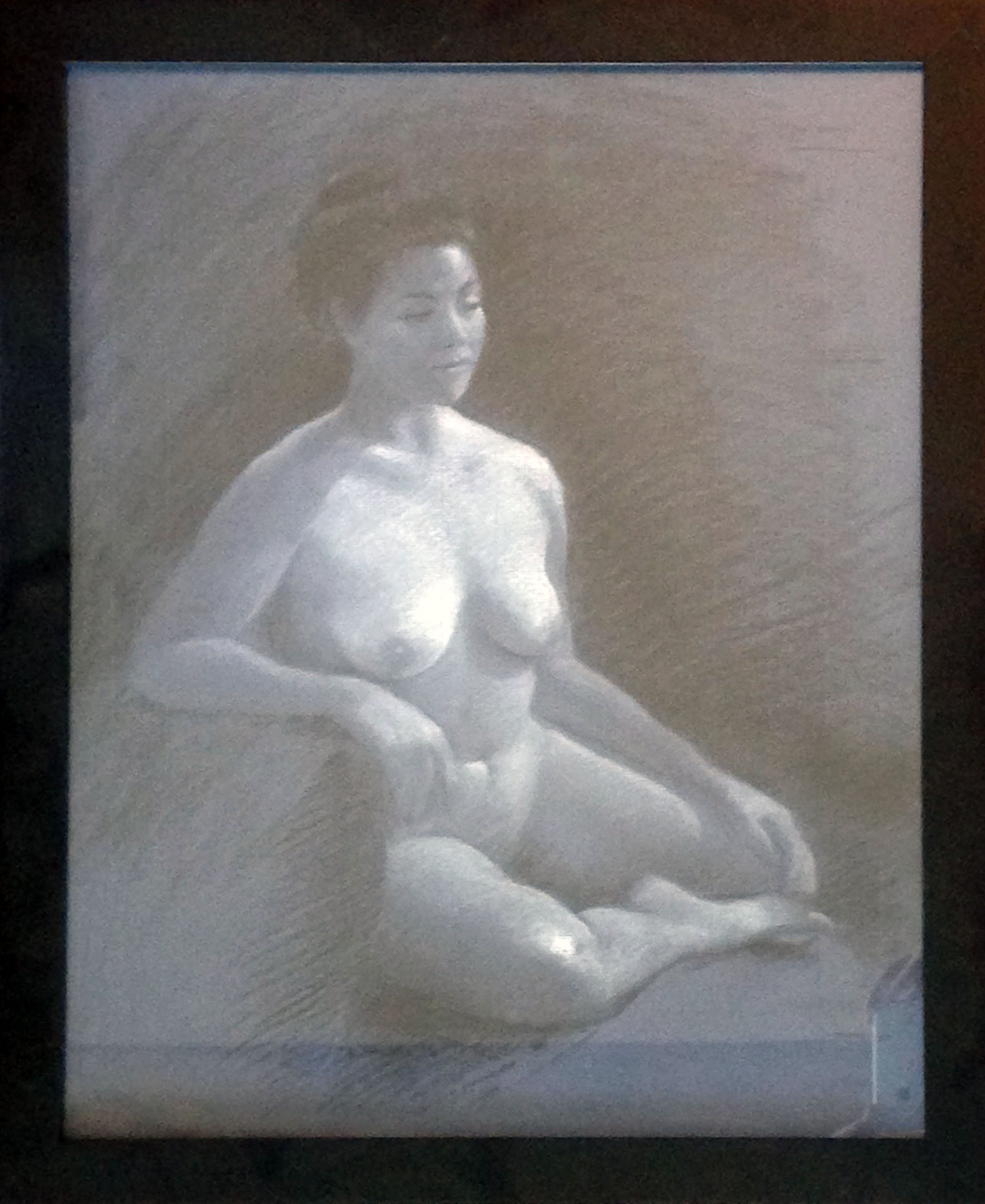 """Untitled nude by Linda K. Stubbs, charcoal on paper, 18""""X22"""""""