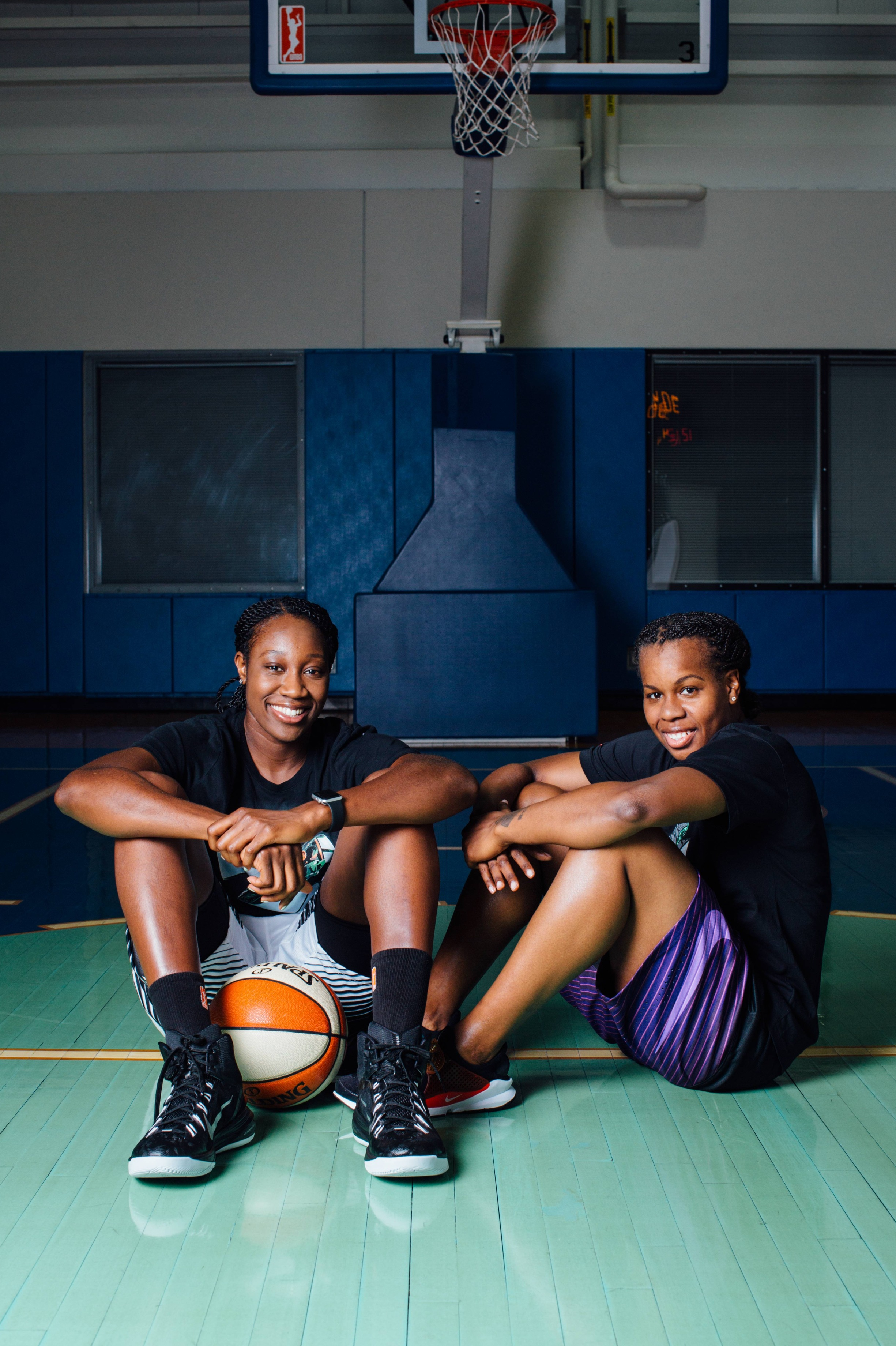 Tina Charles and Epiphanny Prince for New York Magazine's The Cut  Photo by  Stephanie Noritz .