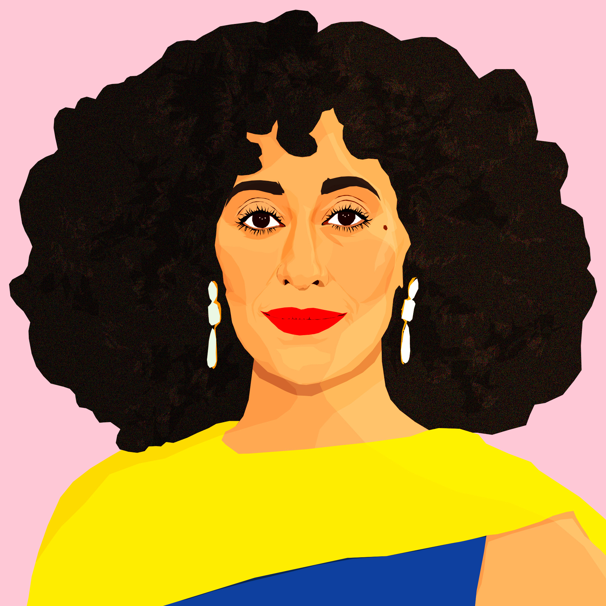 Money Talks, series of celebrity interviews about personal finance, for InStyle.com, 2018  Illustrations by  Monica Ahanonu