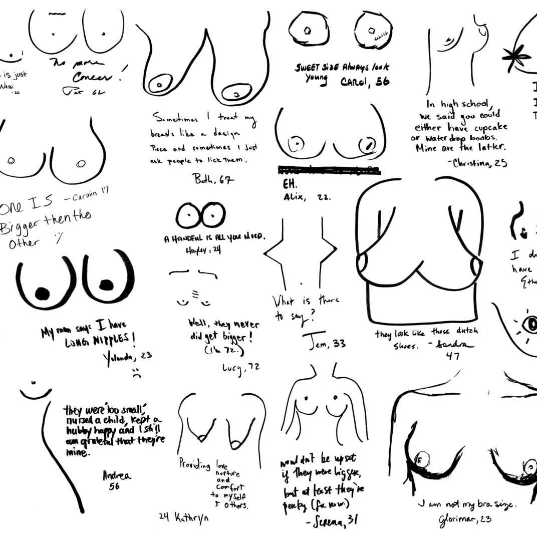 New York Women Draw Their Own Boobs