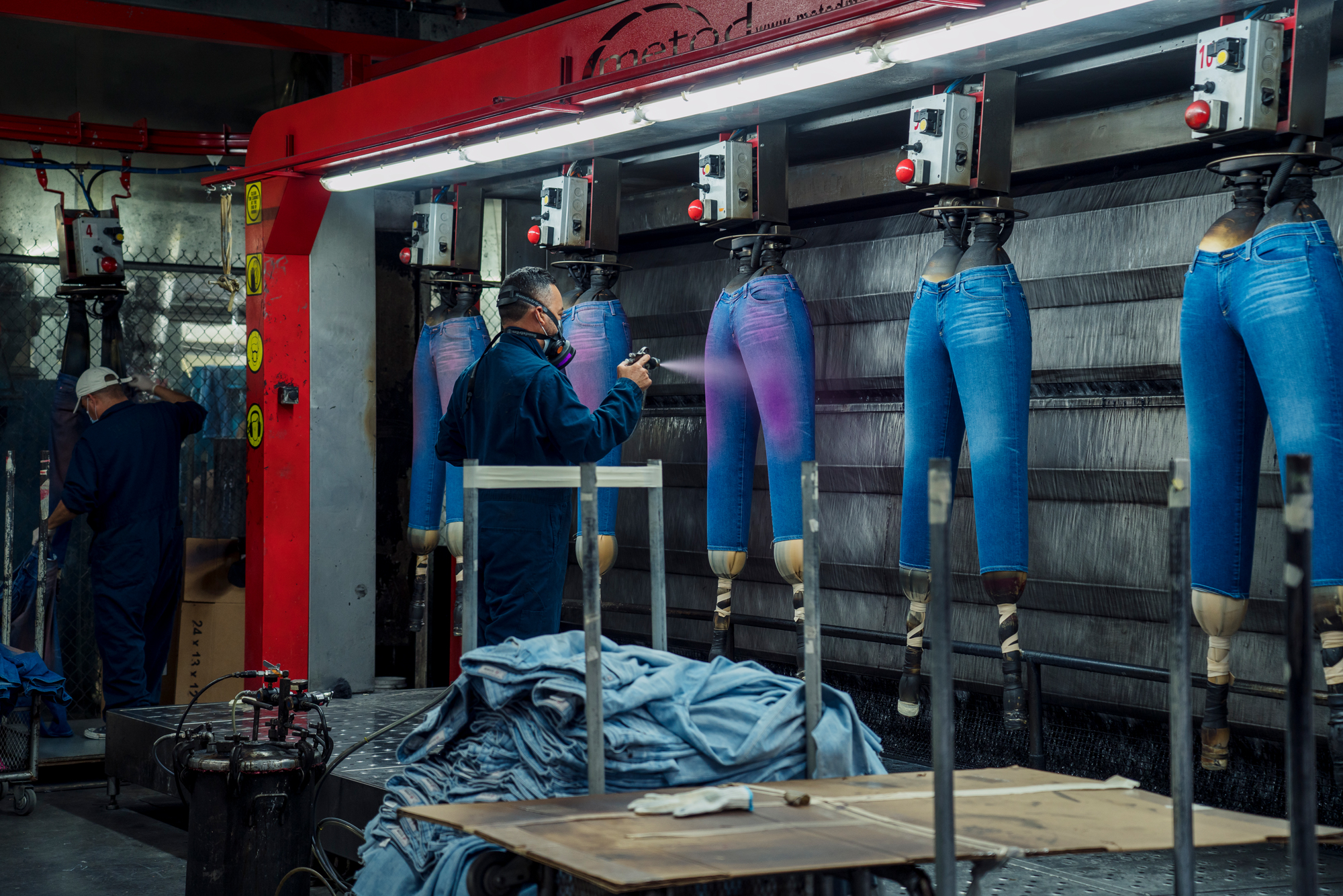 AG Jeans's sustainable denim factory for InStyle.com, April 22, 2019  Photos by  Philip Cheung