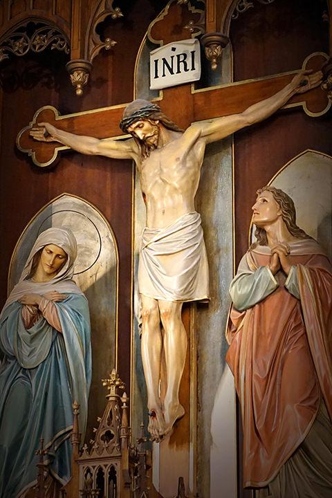 The crucifix in St. JosephChurch.