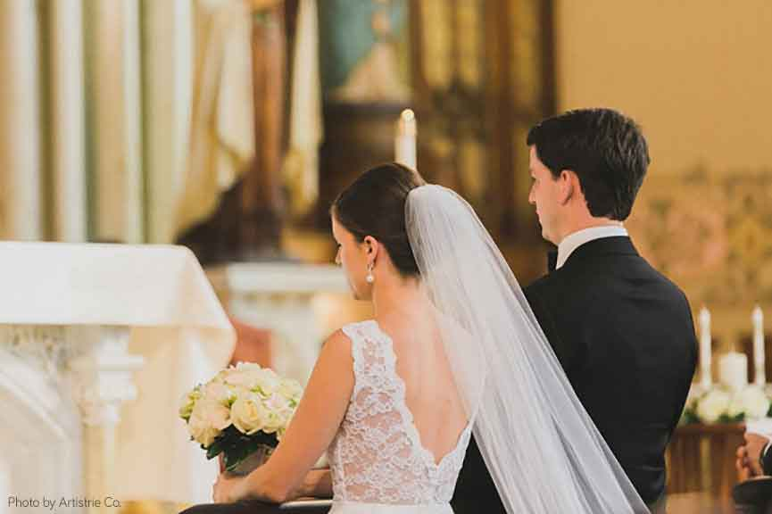Immaculate Conception & St. Joseph Parishes Catholic wedding in Chicago Artistrie Co.