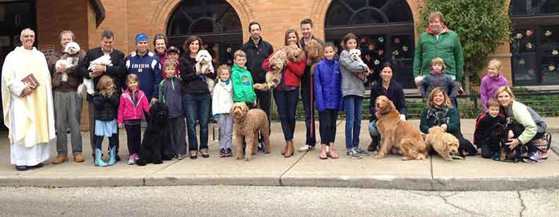 Blessing of the Pets Immaculate Conception St. Joseph Parishes Catholic Church Chicago