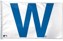 """Chicago Cubs """"W"""" Flag  Immaculate Conception St. Joseph Parishes Catholic Church Chicago"""
