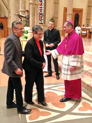 George and Donna Miles with Archbishop Cupich