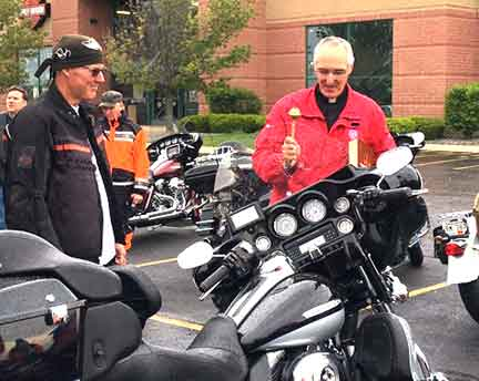 Chi-Town Harley Davidson Tinley Park Fr. Larry Lisowski   Immaculate Conception St. Joseph Parish Catholic Church in Chicago