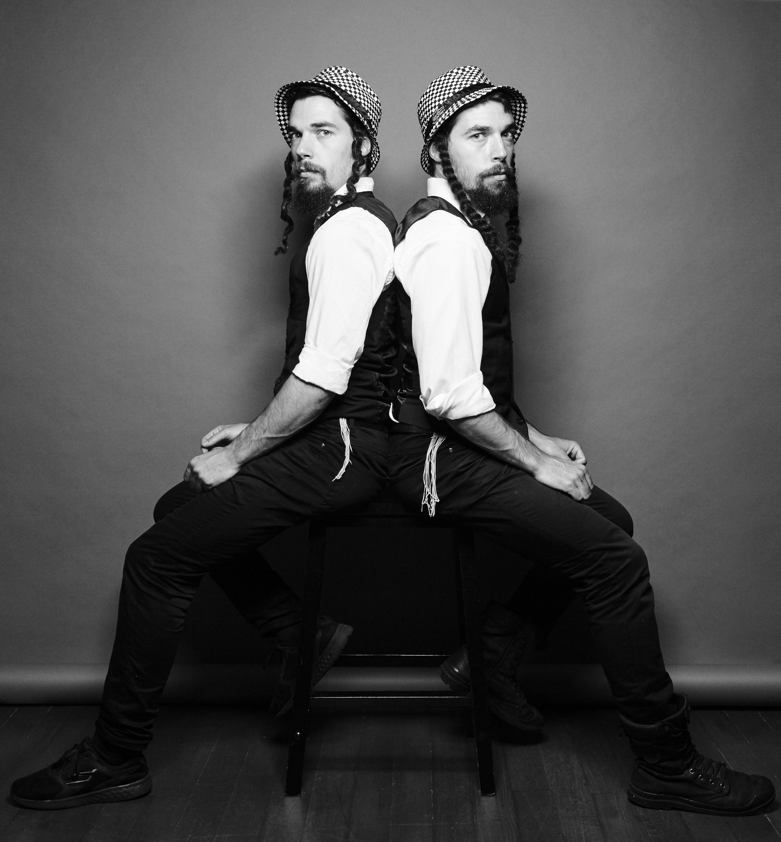 THE TWINS FROM FRANCE, ACROBATIC COMEDIANS