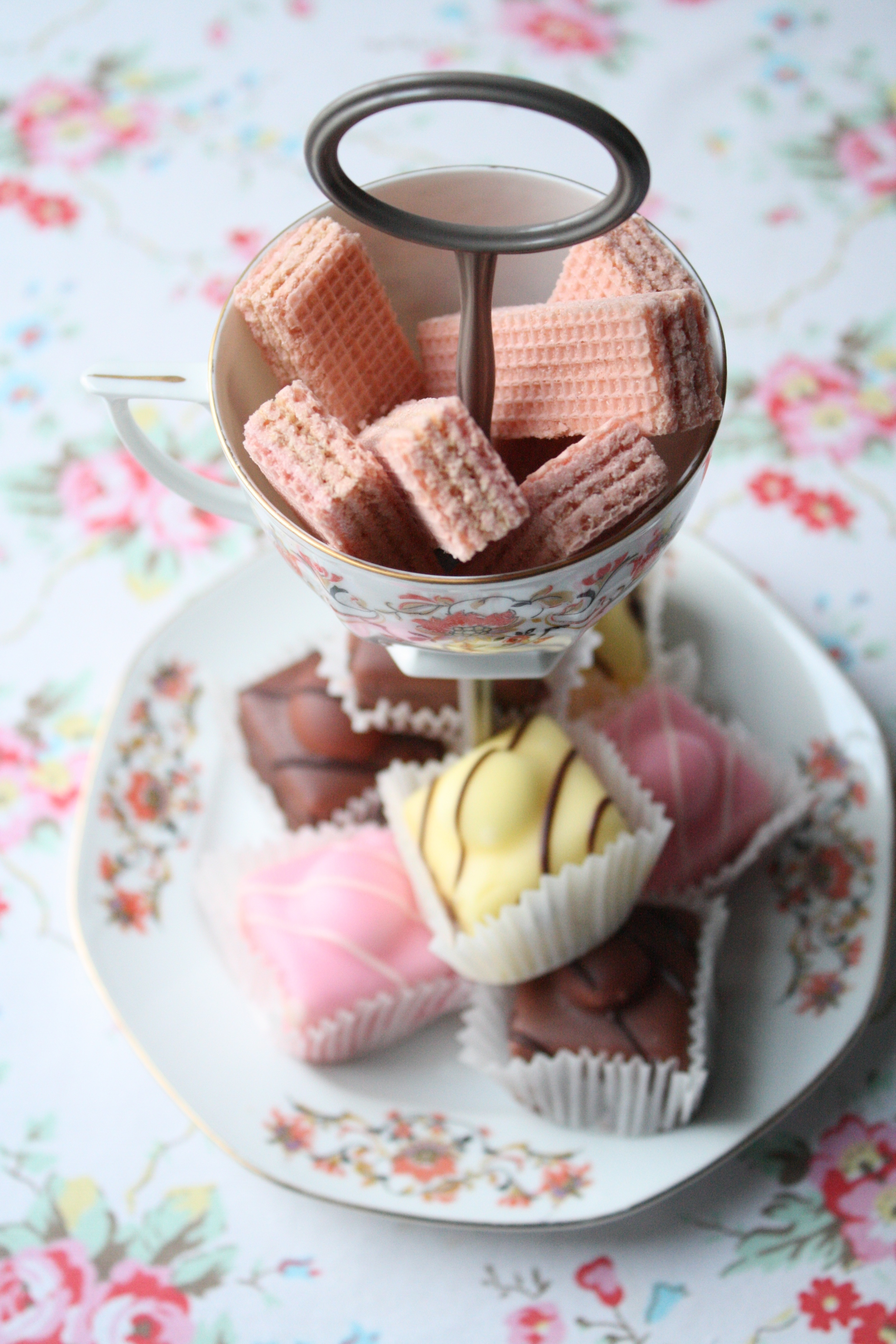 Small two tier vintage cake stand with cup.jpg