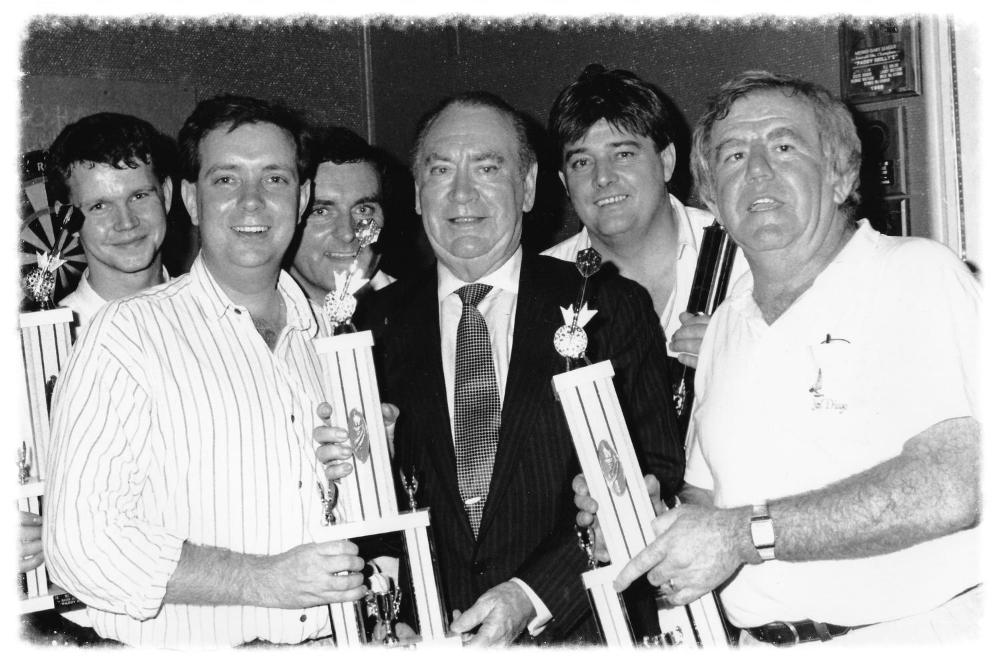 Gov Hugh Carey and Paddy Reilly Darts Invitational