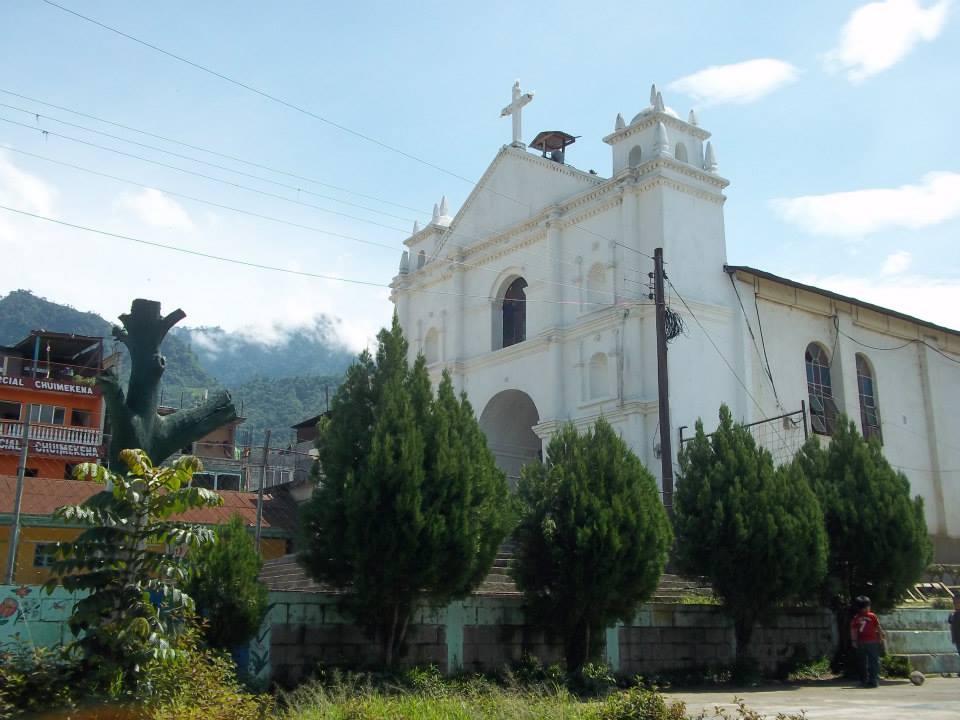 The main Catholic church in San Pablo