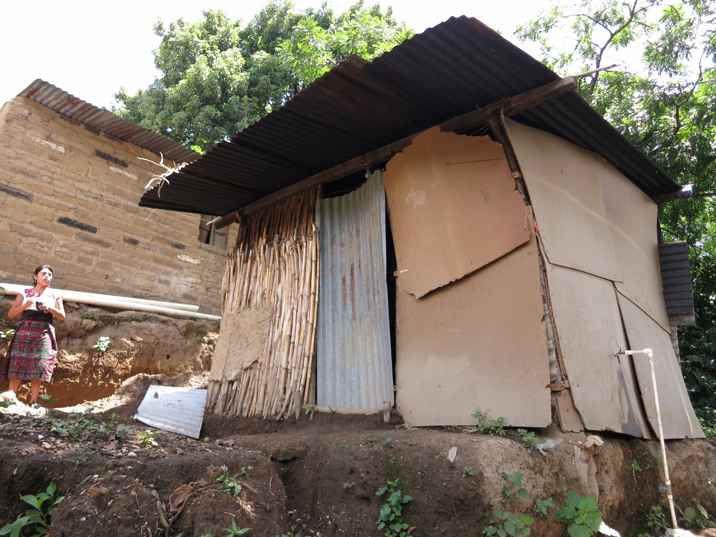 The current home of the family in San Pablo that will be receiving the next home built by ODIM Volunteers.