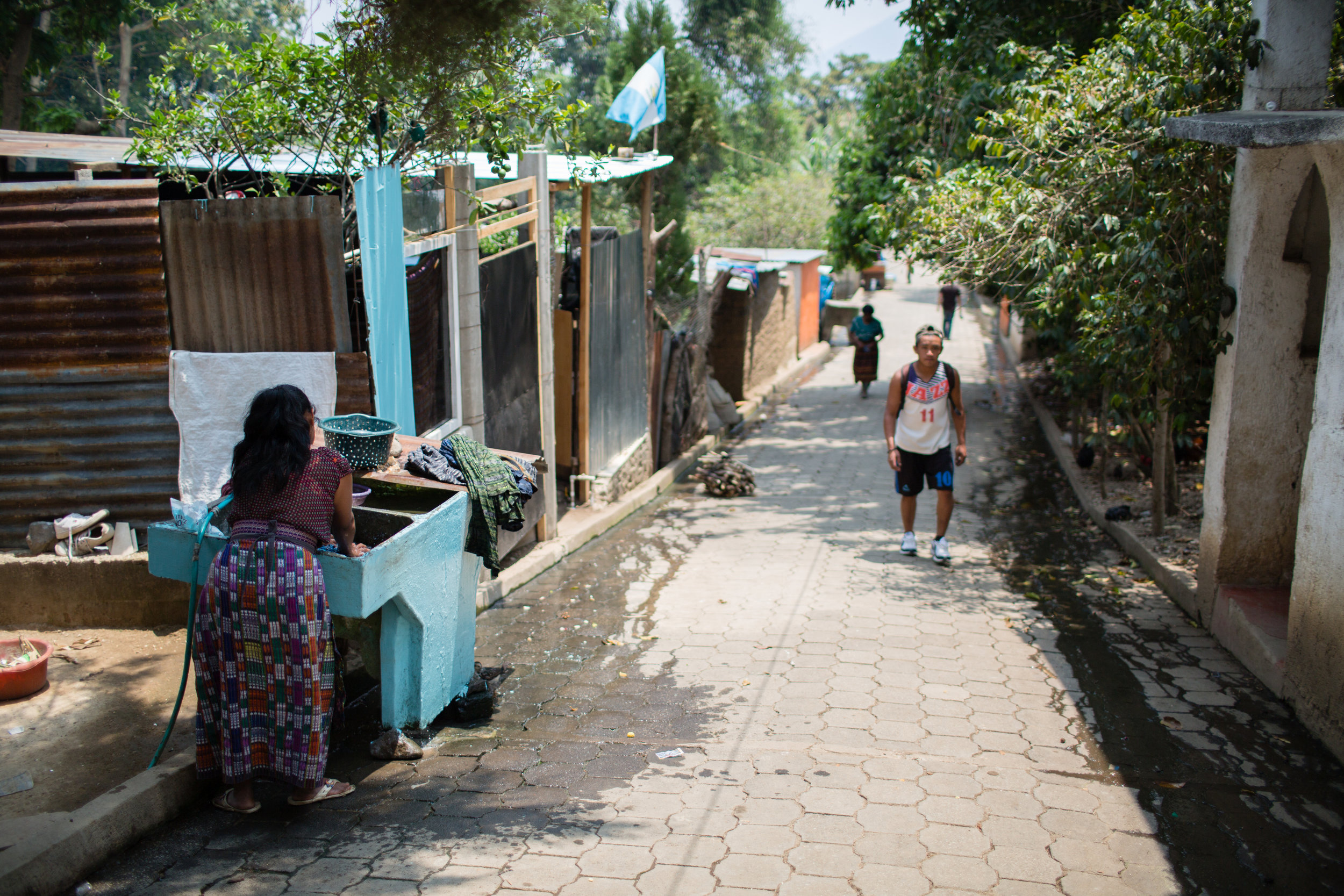 San Pablo La Laguna - outside our clinic