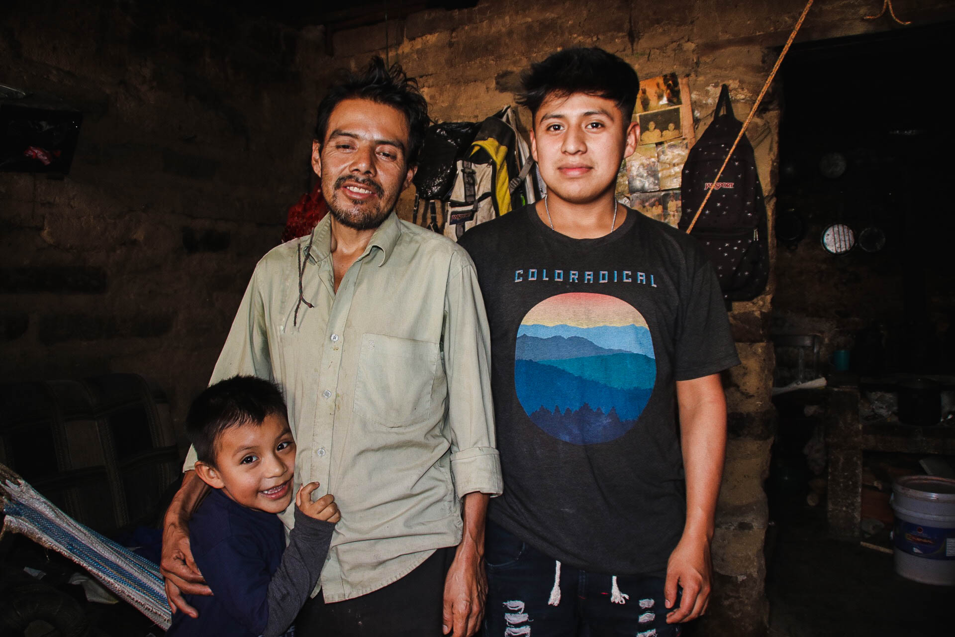 Domingo and his two sons.