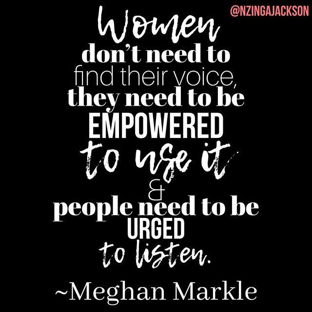 Yea and Amen... just don't wait for someone's approval to #useyourvoice. ⚫️ It is key to changing your life, the lives of those you love, and countless others. . . . . . #MeghanMarkle #WomanStrong #Oprah #MalalaYousafzai #MerylStreep #AnneHathaway #QueenNzinga #WangariMaathai #GabrielleBernstein #MarieForleo #AliBrown #MyMom #ThanksMom #AriannaHuffington #Beyonce #Melania #AmericaFerrera #IssaRae #DianaRoss #TraceeEllisRoss #IsabelDosSantos #CourtneyAdeleye #PriyankaChopra #LakishaTompkinsHudson #MySisters #MyConfidants #MyFriends #MyGrandmother #Vocal