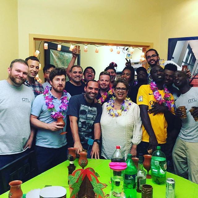 Yesterday we had an awesome tiki party to show our appreciation for the hardworking guys who manage and work on our project sites. These guys do the tough jobs and work long hours with a smile. So thank you to all the OTL site staff!