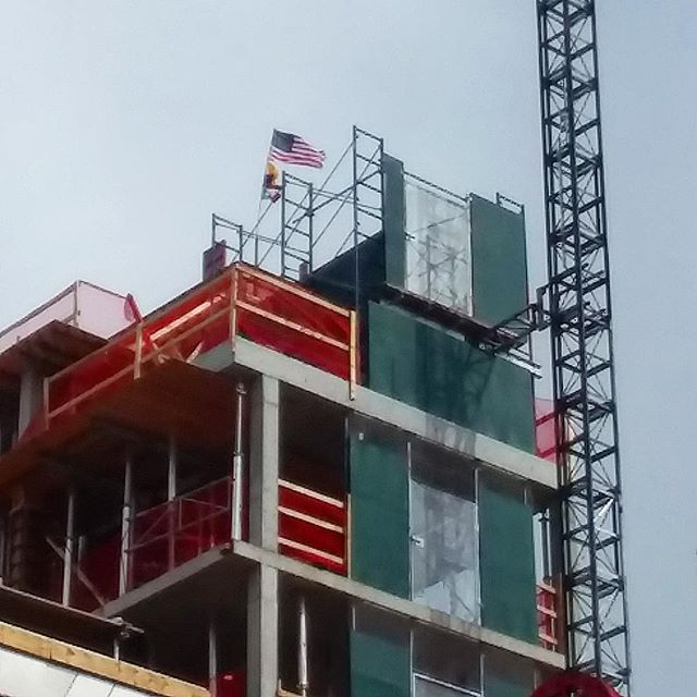Topped out! The concrete superstructure at our project on East 2nd Street has reached its pinnacle. This is a major benchmark for any building and a cause for celebration for the OTL team! #construction #buildingnyc