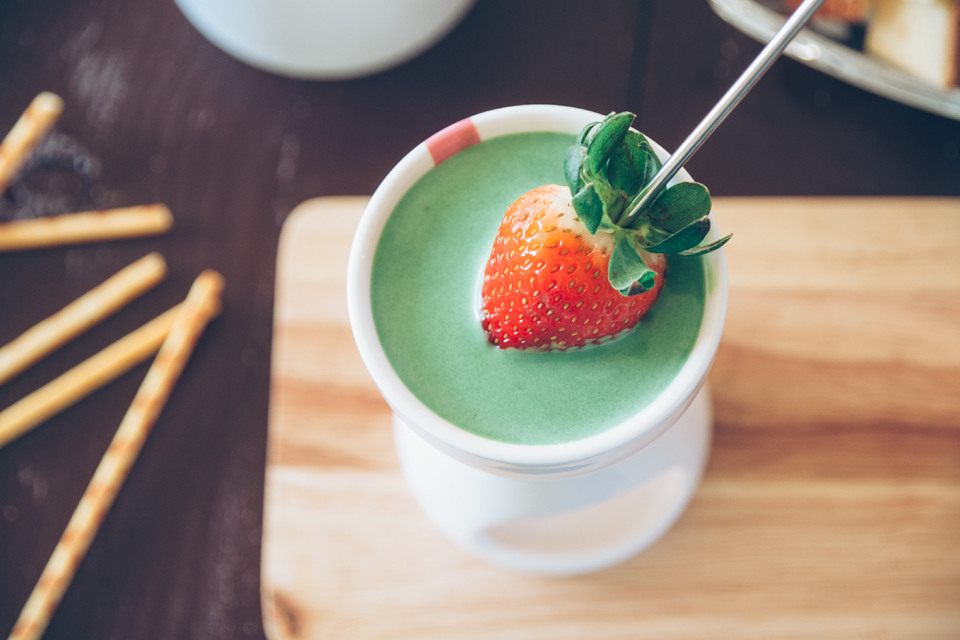食譜recipe◥ love's in the air 情人節特輯 // 抹茶白巧克力fondue 愛情, 苦也甜