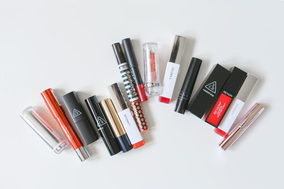 美妝beauty◥ 橘粉色系唇彩 好氣色就靠它們 // favorite orange-pink lip colors