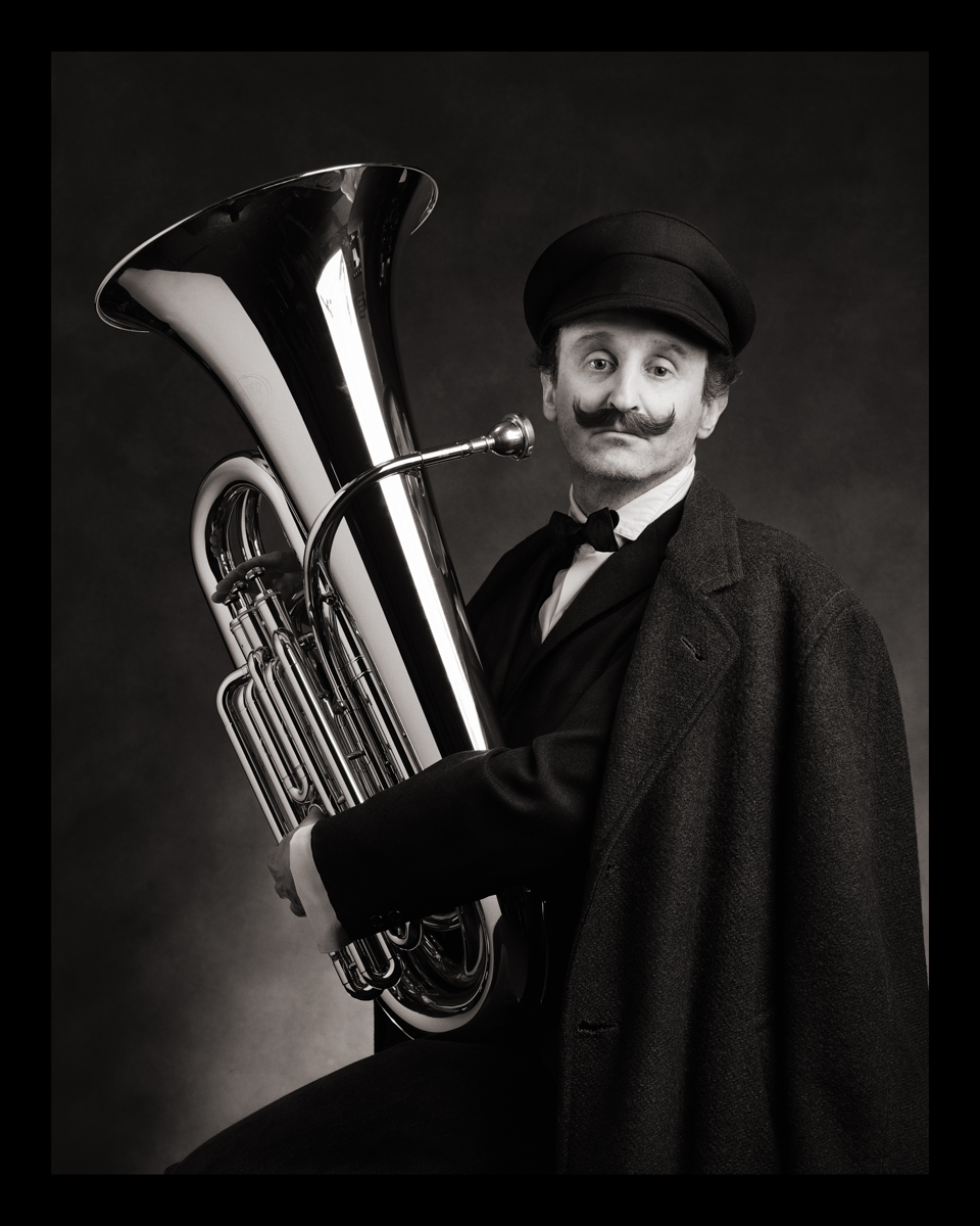 Self-Portrait as Luzer Goldstein (Tuba-The Goldstein Brothers Klezmer Band) b. Poland, 1900s d. Argentina, 1960s