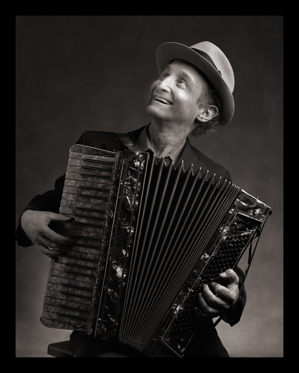 Self-Portrait as Szmul Goldstein (Accordion-The Goldstein Brothers Klezmer Band) b. Poland, 1900s d. Argentina, 1960s