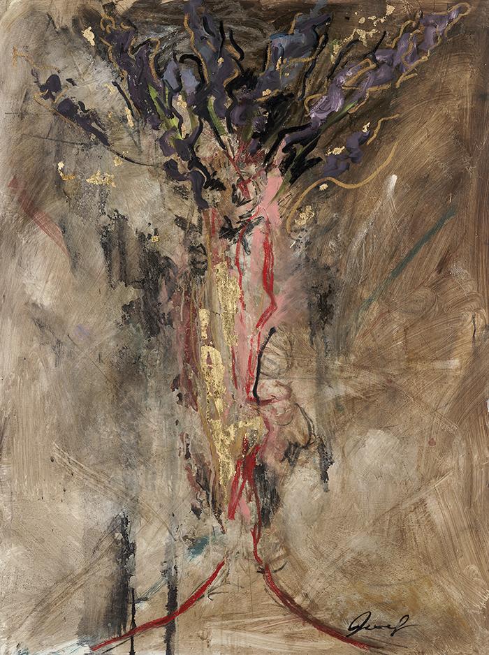 #7 2010 Lilac Orgasm oil on panel 48″ x 36″