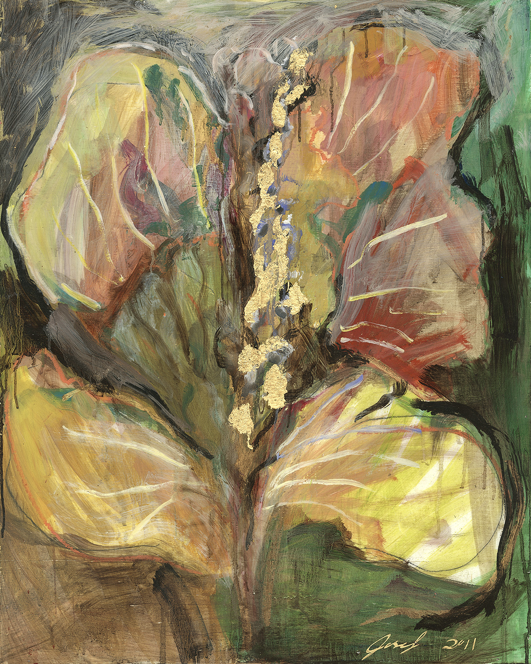 #6  2011 Flowers for her  oil on panel 24″ x 30″