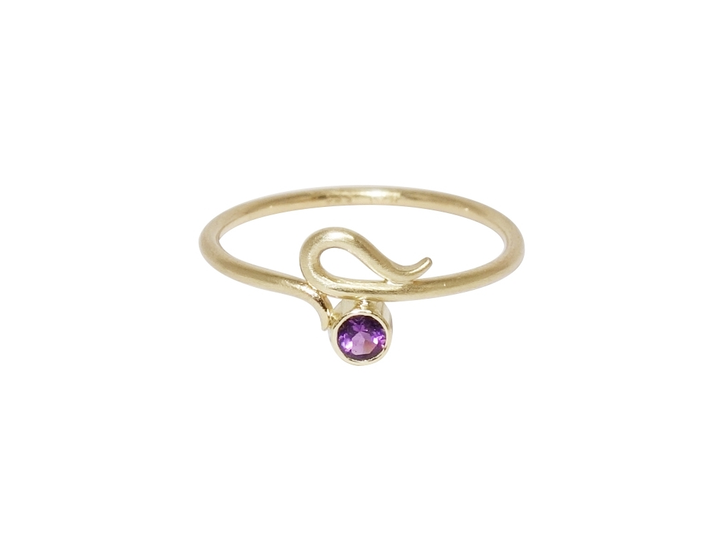 serpentine ring gold guld ring slangering amethyst ametyst guldring smykkedesign jewellery jewelry jewelrydesign
