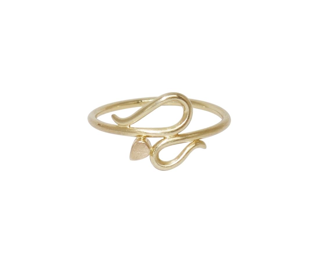 serpentine ring gold guld ring slangering amethyst guldring smykkedesign jewellery jewelry jewelrydesign