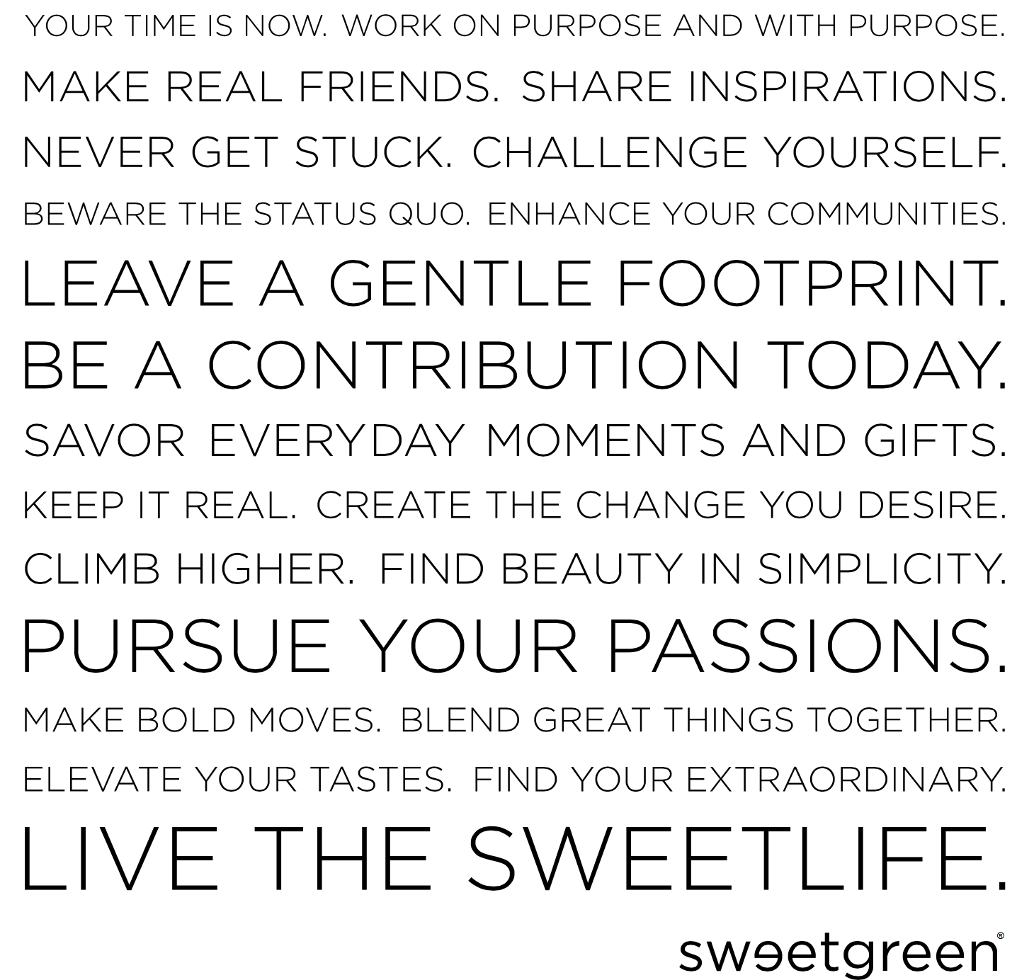 SweetGreenManifesto