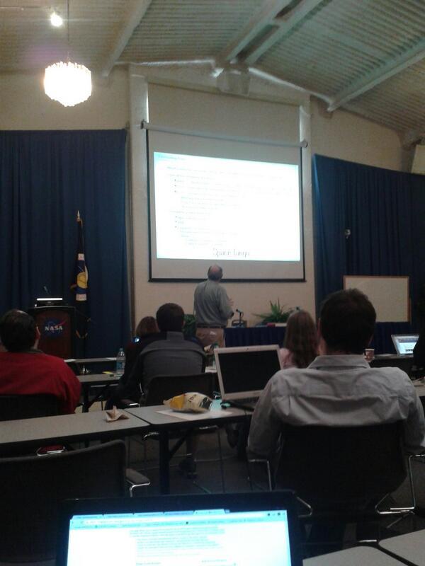 Prof Bob Twiggs talking