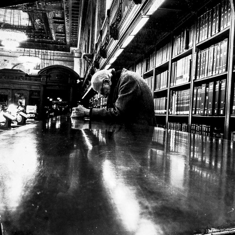 Old Man Reading