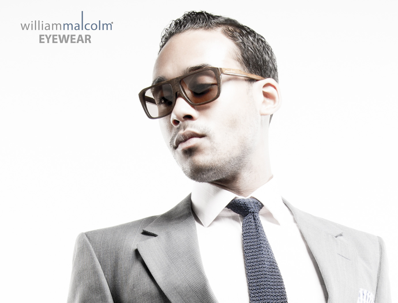 William Malcolm Luxe Collection Wood Eyewear.  Detroit Bespoke Suits. Custom Suits Detroit