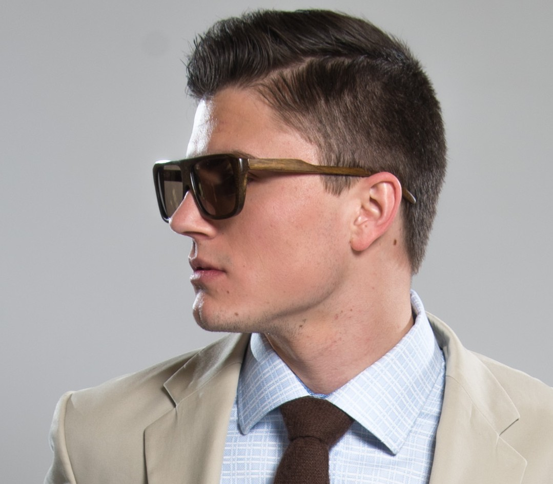 """William Malcolm Luxe Collection Wood Eyewear"".  Detroit Bespoke Suits. Custom Suits Detroit"